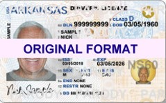 Arkansas Driver License, Scananble Arkansas Driver License, Fake Arkansas Driver License