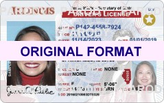 ILLINOIS  DRIVER LICENSE ILLINOIS FAKE ID CARD SCANNABLE ILLINOIS FAKE ID