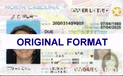 NORTH CAROLINA DRIVER LICENSE ORIGINAL FORMAT, DESIGN SPECIFICATIONS, NOVELTY SECURITY CARD PROFILES, IDENTITY, NEW SOFTWARE ID SOFTWARE NORTH CAROLINA driver