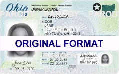 OHIO FAKE IDS SCANNABLE FAKE OHIO ID WITH HOLOGRAMS