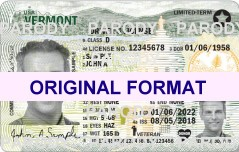 vermont fake drivers license scannable with hologram